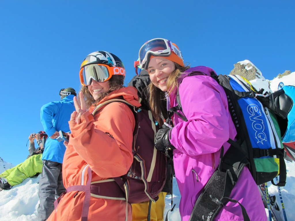Natalie Segal, one of the happiest girls on the mountain, every time! Photo: Anne May Slinning