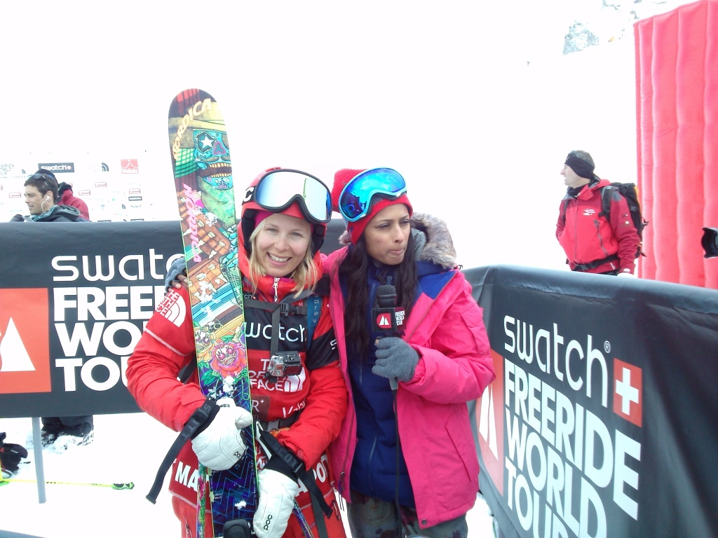 Matilda Rapaport, speachless after being announced as the winner of the Verbier Extreme 2013!