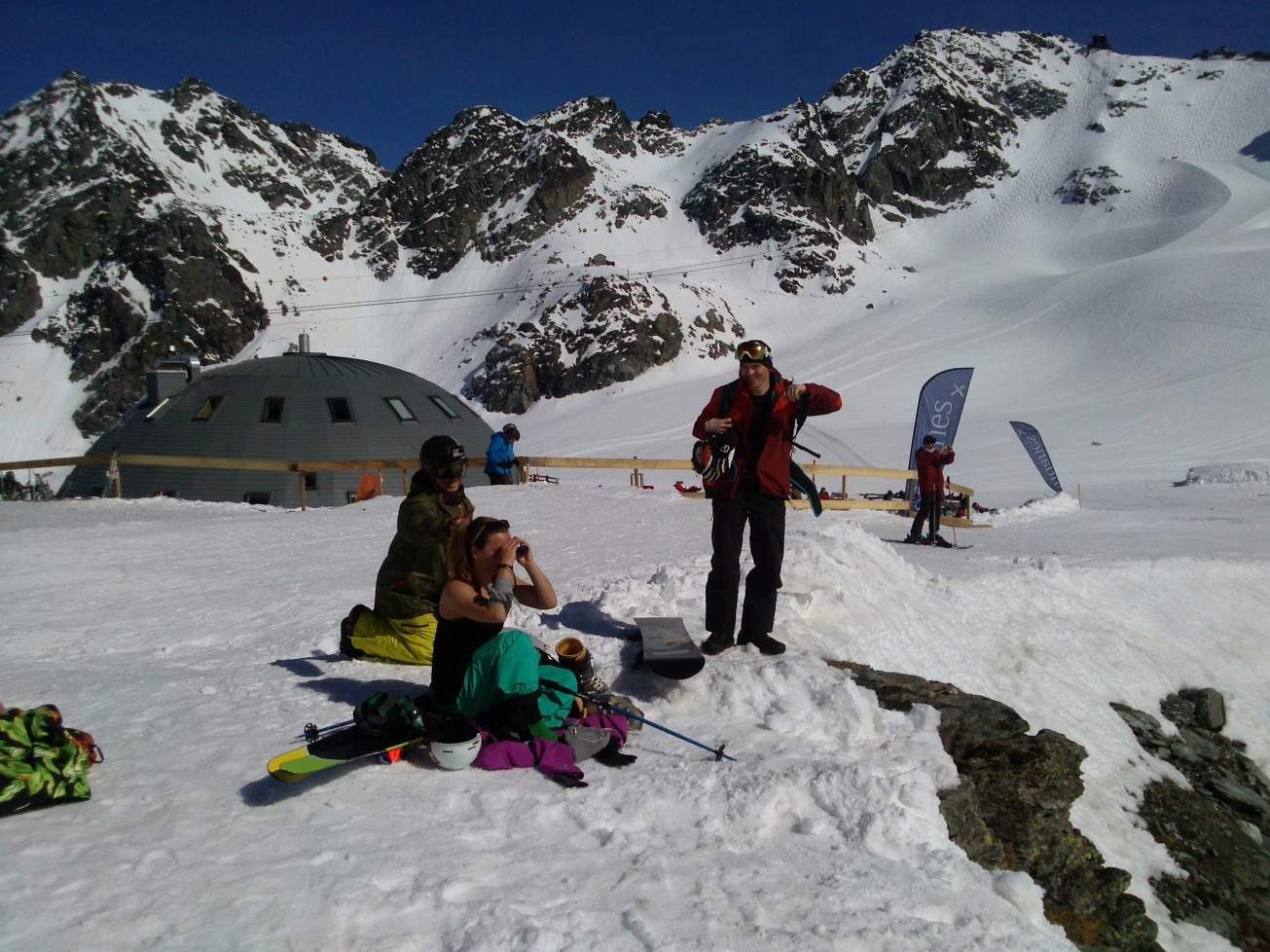 Checking out the Bec des Rosses in Verbier with Ralph Backstroem and Sascha Hamm.