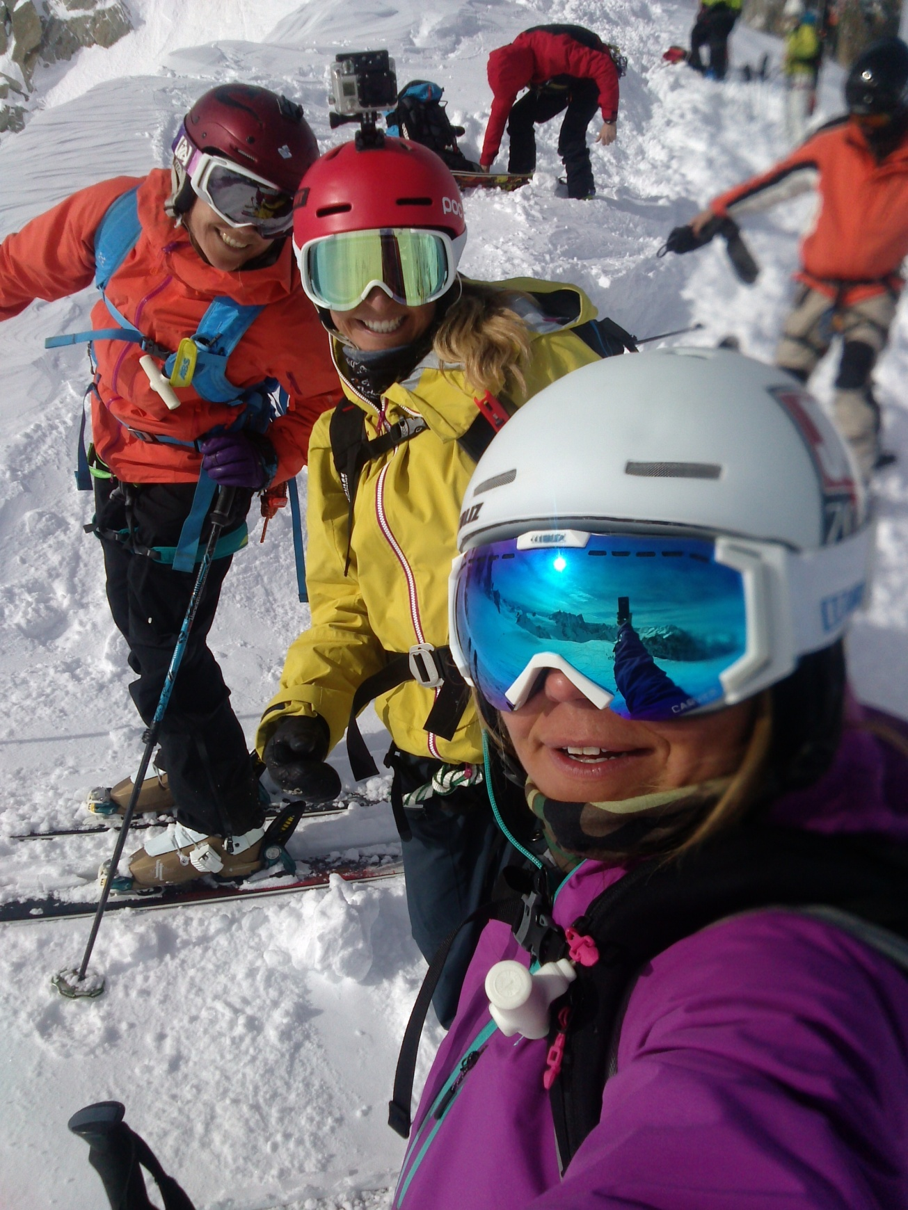 The Verbier Extreme got postponed a week, and I headed over to Chamonix to ski with these beautiful girls, Kristina Slinning and Tone Jersin Ansnes