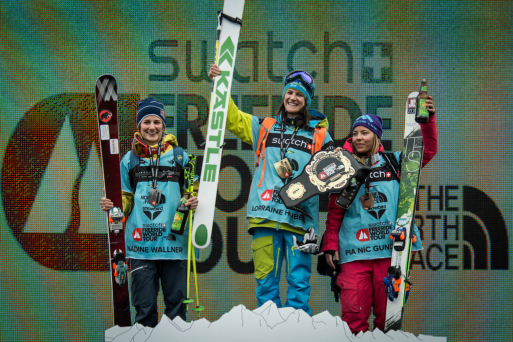 Happy to be on the podium! F.l.t.r: Nadine Wallner, Lorraine Huber and me. (photo: David Carlier, FWT)